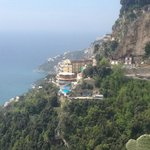 The hotel from Pogerola