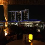 Rooftop bar with THE view on the Sands marina bay hotel