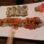 Special lava roll, and avocado roll