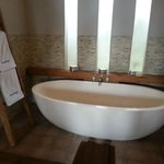Large bath tub with sea salt