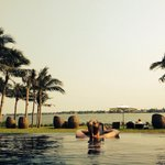 Chilling in the infinity pool - bliss!
