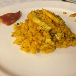 Rice with monkfish and scallops