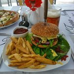 Homemade Burger with Fresh French Fries