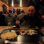 making Okonomiyaki and Teppanyaki