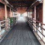 Walkway to SunMoon Restaurant