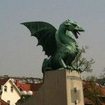 Th dragon - symbol of the city (the guide gave us a detailed explanation)