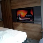 Room with flat HD TV