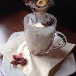 Sun Inn, Morpeth - Chocolate Brownie Sundae served in a pint pot!!!!!
