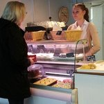 New decor and entrance and sample cakes and pastries