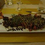 Tagliata ai pistacchi,rosmarino e aceto balsamico, da provare!
