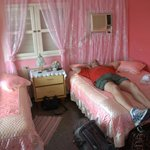 Resting in pink.  Yes, this casa is all about the pink.  We had a restful stay.
