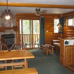 one BR cabin in lodge- very quiet