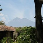 One of the volcanoes that surrounds the hotel