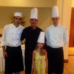 My daughter with the wondeful chef's