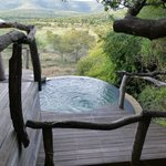 The plunge pool was cold