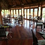The restaurant in the lodge