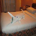 Towel art Croc