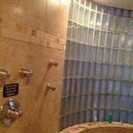 Large shower with multiple shower heads