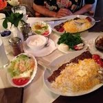 Kabab Barg and side dishes