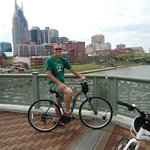 Downtown Nashville in the back-ground