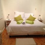 Thyme: single twin beds or kind size bed - looks out onto the pool