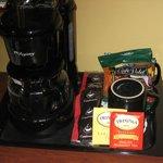in room coffee-tea--not plentiful
