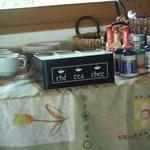 breakfast table set up tea selection