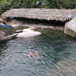 a refreshing waterfall swim for a pitstop