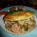 Prawns & Scallops in puff pastry