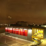 Excel venue at night, but we heard no noise in our soundproof room