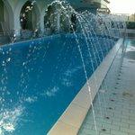 la piscina in funzione