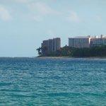 View of Mahana from beach