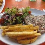 Pork, Chips & Salad Lunch