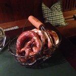 Giant pretzel basket