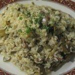 risotto carciofi e pancetta