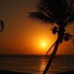 sunset, the view from verandah