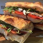 Artisan bread sandwiches