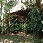 A lakeside cabana