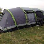 Camping tent set up