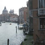 View of my room and the Grand Canal from the Accademia Bridge