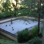 View of Zen meditation garden from above.
