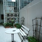 Courtyard outside dining room