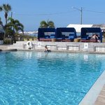 the clean heated pool