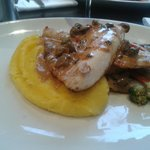 Sea Bass, mash and vegetables - delicious