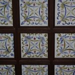 Hand painted ceiling tiles