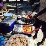 Beach lunch fabulous spread