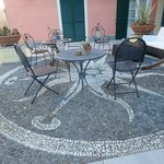 magnificent mosaic in the courtyard