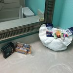 Bathroom amenities kit - very nice (4/26/14 - Room 201)
