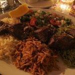 Tender lamb kebab and 3 kinds of rice