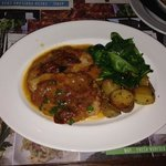 a filling meal? escalope, and 5 tiny potatoes